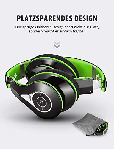 Mpow Bluetooth Kopfhörer Over Ear, [Bis zu 20 Std] Kabellose Kopfhoerer mit Hi-Fi Stereo mit Dual 40mm Treiber, CVC 6.0 Noise Canceling für Integriertem Mikrofon Freisprechen - 5