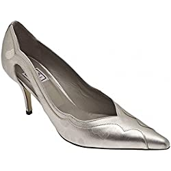 Renata Women's High Heel Court Shoe 7.5 Silver