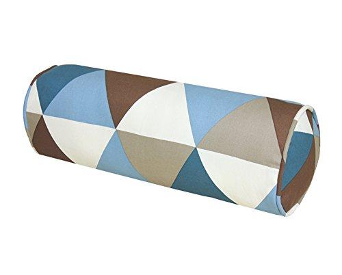 45 * 15cm, Cylindrique Coussin, Canapé sur Oreiller, Bureau Géométrique Triangle Motif Oreiller Tapis de Taille