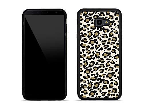 etuo Samsung Galaxy J4 Plus - Hülle Aluminum Fantastic - Kleines Leopardenmuster - Handyhülle Schutzhülle Etui Case Cover Tasche für Handy