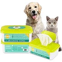PUPMATE Pañitos Perros y Gatos, pañitos Extra húmedos y Gruesos para Limpiar cachorritos, Incluye 100 pañitos Frescos desodorizantes e hipoalergénicos con - (Aloe Vera)