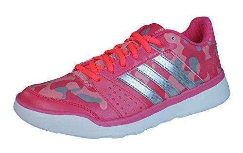 adidas Essential Fun, Chaussures de course femme Multicolore - Rosa / Plata / Morado