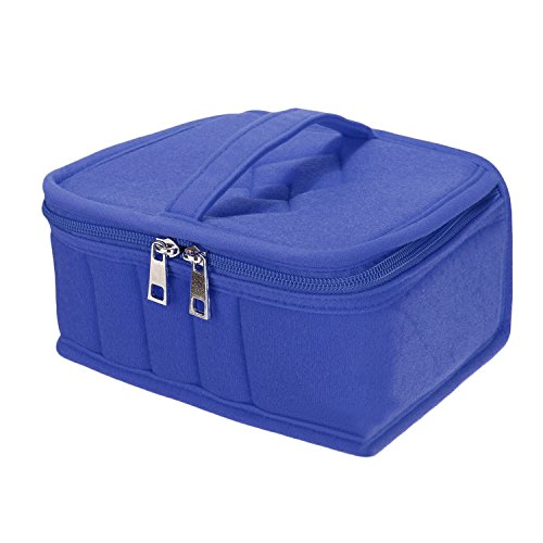 Portable 21 slots huiles essentielles transport étui de rangement sac porte-boîte organisateur bleu