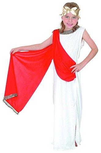 Römisches Göttinnen-Kostüm für Mädchen 140/152 (10-12 (Römische Kostüm Mädchen)