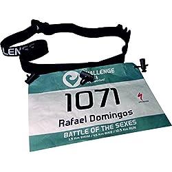Porte-dossard Ekeko Challenge, réglable pour running, triathlon, randonnées, etc.