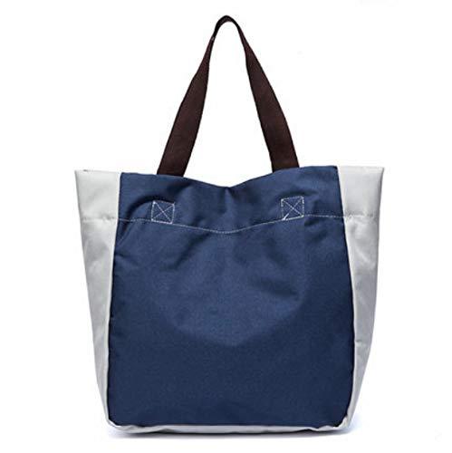 AJCAW Faltbare 3 Einkaufstaschen Tragbarer Supermarkt Umweltfreundliche Lebensmittelhandtasche mit großer Kapazität 45 x 42 cm Eleganter blauer Punkt -