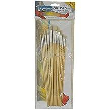 Kingfisher-Confezione da 12 pennelli per pittura & in omaggio