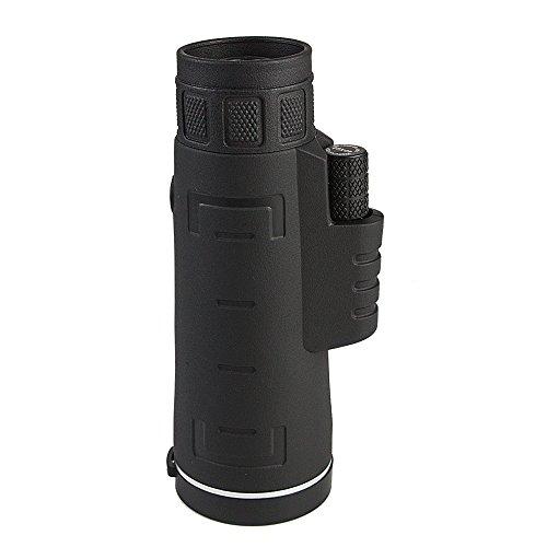 Egomall 10 x 42 telescopio monocular impermeable monocular zoom con gran angular para la caza de aves senderismo camping