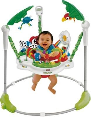 Ideal Fisher-Price Rainforest Jumperoo Babyschaukel –Cleva®-Bundle-Edition