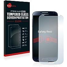 Savvies Protector Cristal Templado para Samsung Galaxy S4 Advance I9506 GT-I9506 Protector Pantalla Vidrio - Dureza 9H