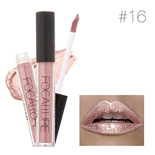 FORH FOCALLURE New Fashion Lippenstift Kosmetik Frauen Sexy Lippen Metallic Lip Gloss Sexy Lip Makeup Wasserdichte Lippenstifte Weiselippenstift Kosmetik Long Lasting Lipsticks Set (A)