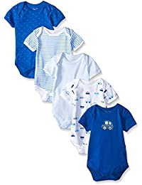 Rene Rofe Baby Boys' 5 Piece Lap Shoulder Bodysuit Set