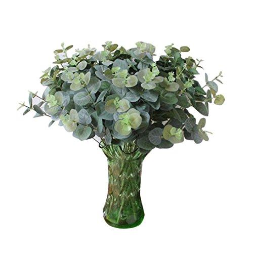 Artificial Seda Artificial hojas de eucalipto, licencia para decoración para el hogar/bodas/partes/oficinas, Y56licencia de eucalipto de hojas Artificial flores boda ramo novia artificial hortensia Decor, 50cm