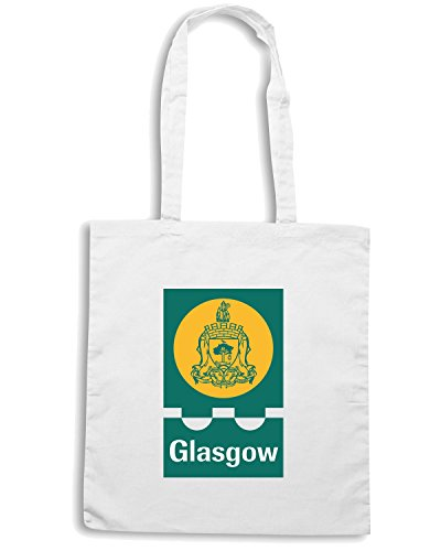T-Shirtshock - Borsa Shopping TM0094 Glasgow citta Bianco