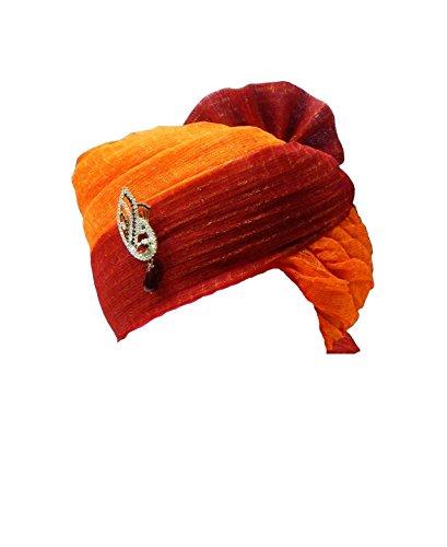 Rajasthani Wedding Safa Men's Cotton Wedding Turban (Sh-664_Multi Color_Free Size)