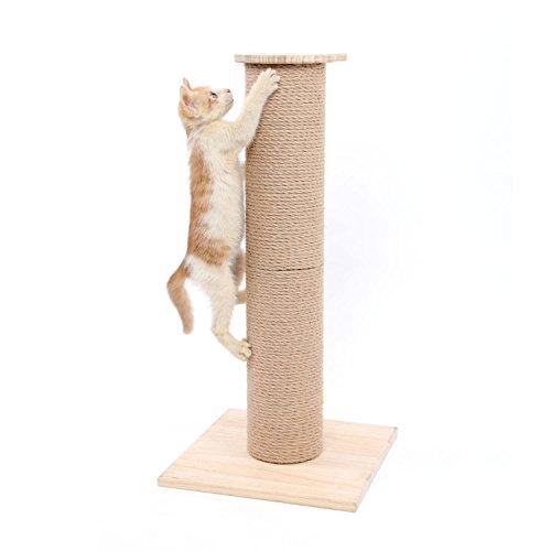 Árbol Rascador para Gatos con Poste Rascadore Estabilidad con Columna de Sisal Natural,Grande,65 cm de Altura