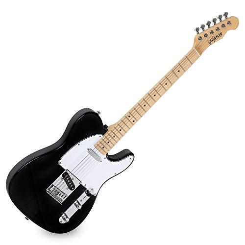 Shaman Element Series TCX-100B - E-Gitarre in TL-Bauweise - geölter Hals aus Ahorn - Ahorn-Griffbrett - schwarz -