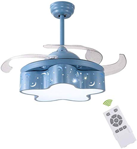 Kinder Spinnen Hängeleuchten, Deckenleuchte 42-Zoll-Lampe für Fans, Zimmer/Schlafzimmer/Wohn- / Spider-modern, minimalistische Kinder,Variable Frequency Fernbedienung -
