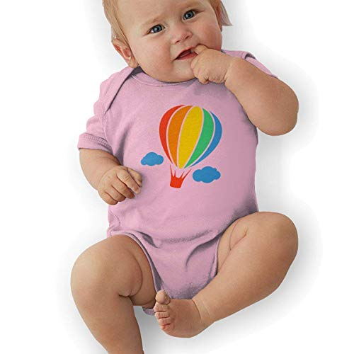 Bodys & Einteiler,Babybekleidung, Baby one-Piece Suit,Baby Jumper,Pajamas, Toddler Baby Girl's Bodysuit Short-Sleeve Onesie Hot Air Balloon Print Rompers Spring Pajamas -