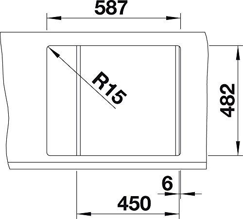 BLANCO TIPO 45 S Compact Sp/üle Edelstahl B/ürstfinish