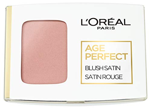 L\'Oréal Paris Age Perfect Satin 101 Rosa/Rosewood, seidiges Puder Rouge, 5 g