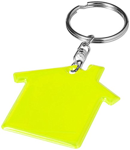 house-keyring-neon-yellow-lightweight-pvc-reflective-school-safety-visibility