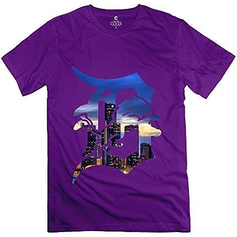 Geek Detroit Tigers Logo Camiseta de hombre negro