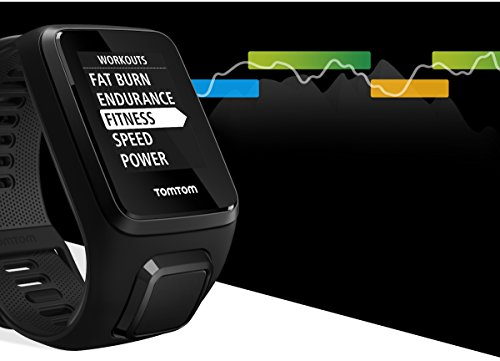 Tomtom Spark 3 GPS Multisport Fitness Watch + Route Exploration + Activity Tracker (Black, Large)