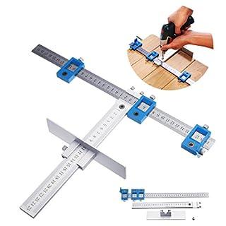 ZYCkeji Wirksam Drill Guide Set, Aluminium Position Cabinet Hardware Bohrlehre für die Holzbearbeitung