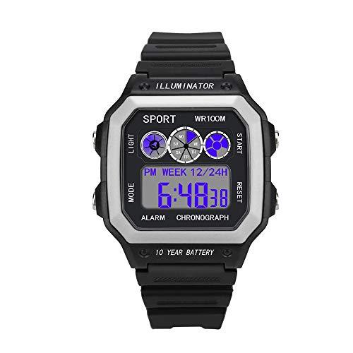 Orologio Da Polso Impermeabile Di Sport LED Digitale Analogico Di Lusso Elegante Degli Uomini Di Lusso Comodo (free size, bianca)