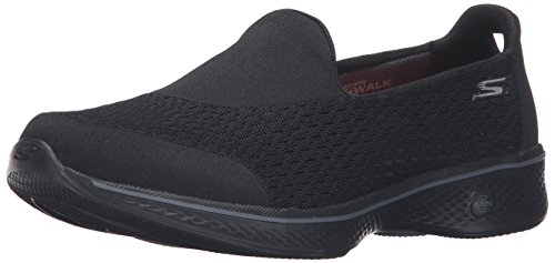 Skechers Women's Go Walk 4-Pursuit Trainers, Black (Black), 5 UK 38 EU