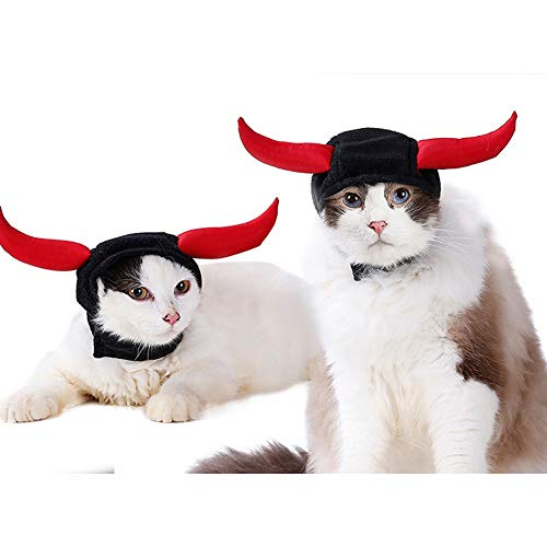 Hut Teufelhorn Katze Hund Festival-Hut Bull Teufel Kopfbedeck-Hut Turban PET-Accessoire ()