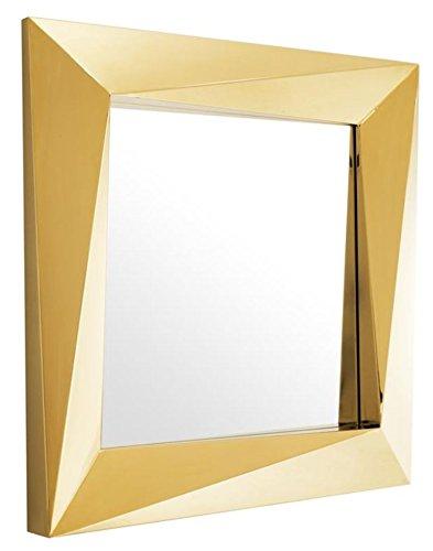 Casa Padrino Luxus Spiegel / Wandspiegel Gold 100 x H. 100 cm - Luxus Qualität
