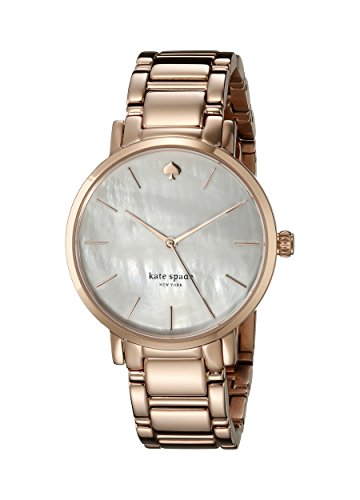 Kate Spade Women's Rose Gold-Tone Dial Steel Bracelet & Case Quartz MOP Dial Analog Watch 1YRU0003