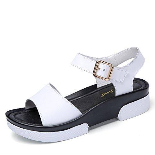 Lady,Summer,Thick-soled Sandals/Chaussures Occasionnelles De Talon Moyen A