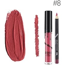 Kiss Beauty Matte Liquid Lipgloss and Lip Liner (Shade 8, 7652-8)