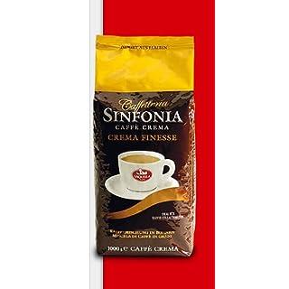 Saquella Espresso Sinfonia Crema Finesse 100% Arabica Direkt-Import aus Italien 1 Kg ganze Bohne