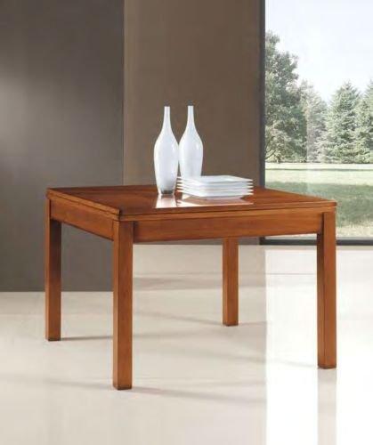 Tavolo Quadrato A Libro.Legno Design Tavolo Cucina Soggiorno Allungabile Quadrato Apertura