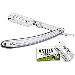 Navaja De Afeitar Parker 31r + 5 Astra Superior Platinum cuchillas de doble hoja