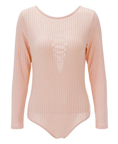 Smile YKK V Ausschnitt Reizvoll Damen Mädchen Gestrickt Overall Jumper Sweater Oberteil T Shirt Bluse Hemd Pink