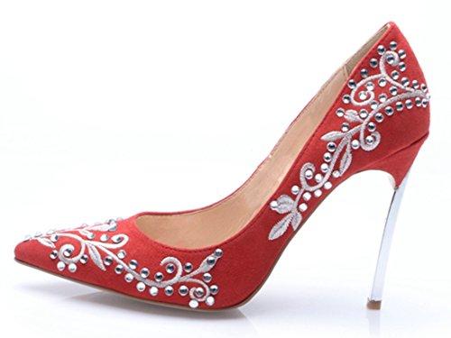 TDA - Sandali con Zeppa donna Red