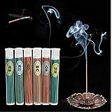 50pcs Coperta Naturale del bruciatore di incenso bastoni dell'aroma Sonno Salute Incenso Legno di Sandalo Rose tè Verde Aromaterapia Home Decor