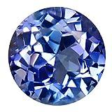0,37 ct Rundschliff (4 x 4 mm) Blauer Tanzanit Natur lose Edelstein