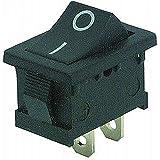 Mini interrupteur à bascule 2broches, noires bascule (0/1), AC 250V/3A, 2positions: ON/OFF