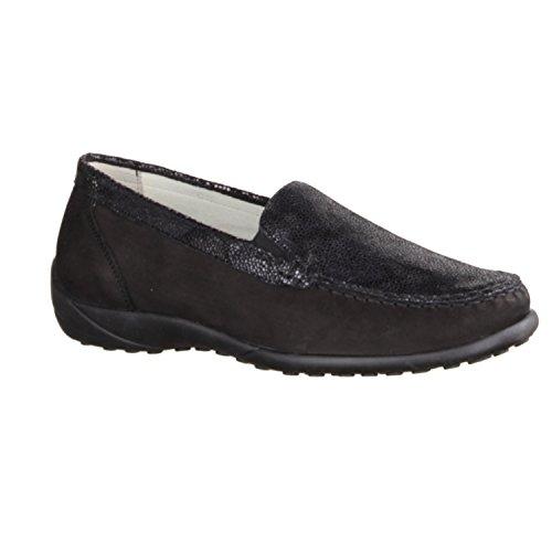 Waldläufer 640004-649-954, Chaussures À Lacets Femme Noir Noir Noir
