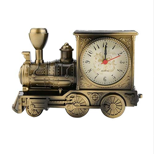 ZHONGQIAN Alarm Clock Art Train-Shaped Quartz Movement