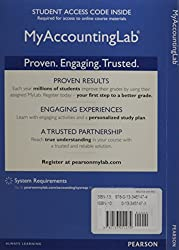 New Myaccountinglab with Pearson Etext -- Access Card -- For Cost Accounting