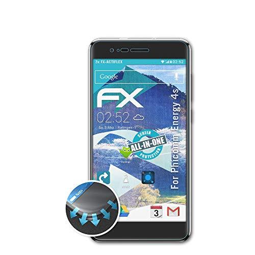 atFolix Schutzfolie passend für Phicomm Energy 4s Folie, ultraklare & Flexible FX Bildschirmschutzfolie (3X)