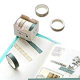 Lot de 5 rouleaux de ruban adhésif Washi - 15 mm de large - Pour scrapbooking, carnet de notes, agenda, arts et travaux manuels - 10 mm x 3 m #5