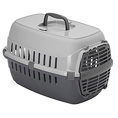 Heritage Skippa-Duo 2-Tone Grey Cat Pet Carrier Dog Puppy Kitten Rabbit Transport & Travel Cage